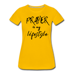 Load image into Gallery viewer, Prayer Women's T-Shirt - sun yellow