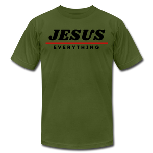 Jesus Over Everything Unisex T-Shirt - olive