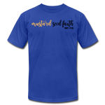 Load image into Gallery viewer, Mustard Seed Unisex T-Shirt - royal blue