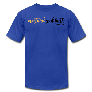 Mustard Seed Unisex T-Shirt - royal blue