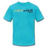 Load image into Gallery viewer, Mustard Seed Unisex T-Shirt - turquoise