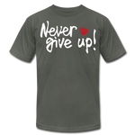 Load image into Gallery viewer, Never Give Up Unisex T-Shirt - asphalt
