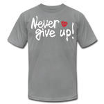 Load image into Gallery viewer, Never Give Up Unisex T-Shirt - slate