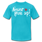 Load image into Gallery viewer, Never Give Up Unisex T-Shirt - turquoise