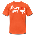 Load image into Gallery viewer, Never Give Up Unisex T-Shirt - orange
