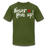 Load image into Gallery viewer, Never Give Up Unisex T-Shirt - olive