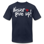 Load image into Gallery viewer, Never Give Up Unisex T-Shirt - navy