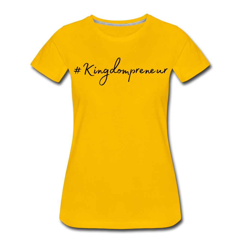 Kingdompreneur Women's T-Shirt - sun yellow