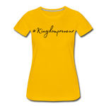 Load image into Gallery viewer, Kingdompreneur Women's T-Shirt - sun yellow