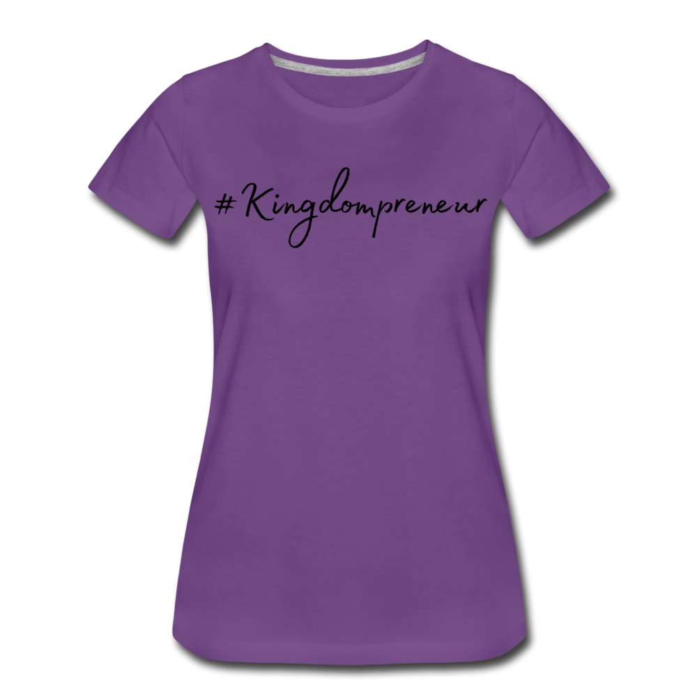 Kingdompreneur Women's T-Shirt - purple