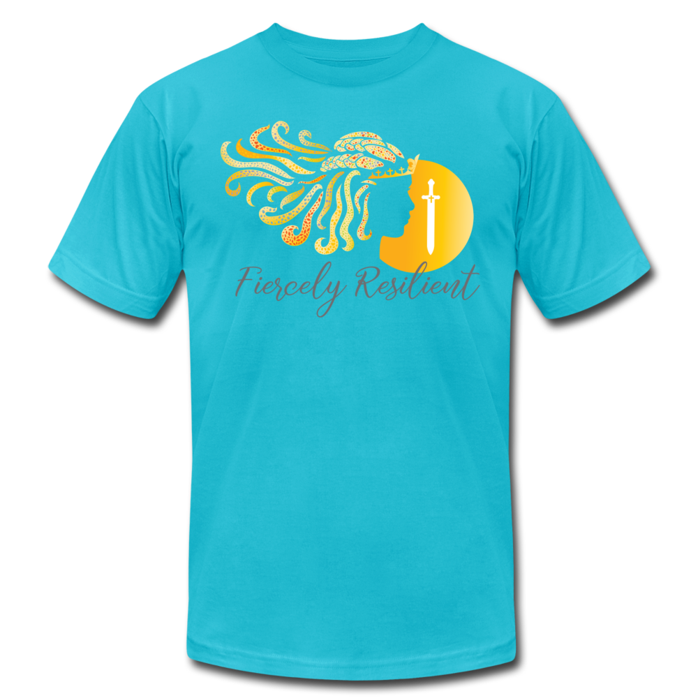Fiercely Resilient Brand T-Shirt - turquoise