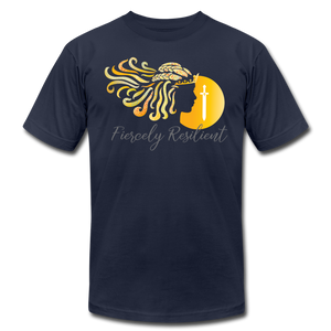 Fiercely Resilient Brand T-Shirt - navy