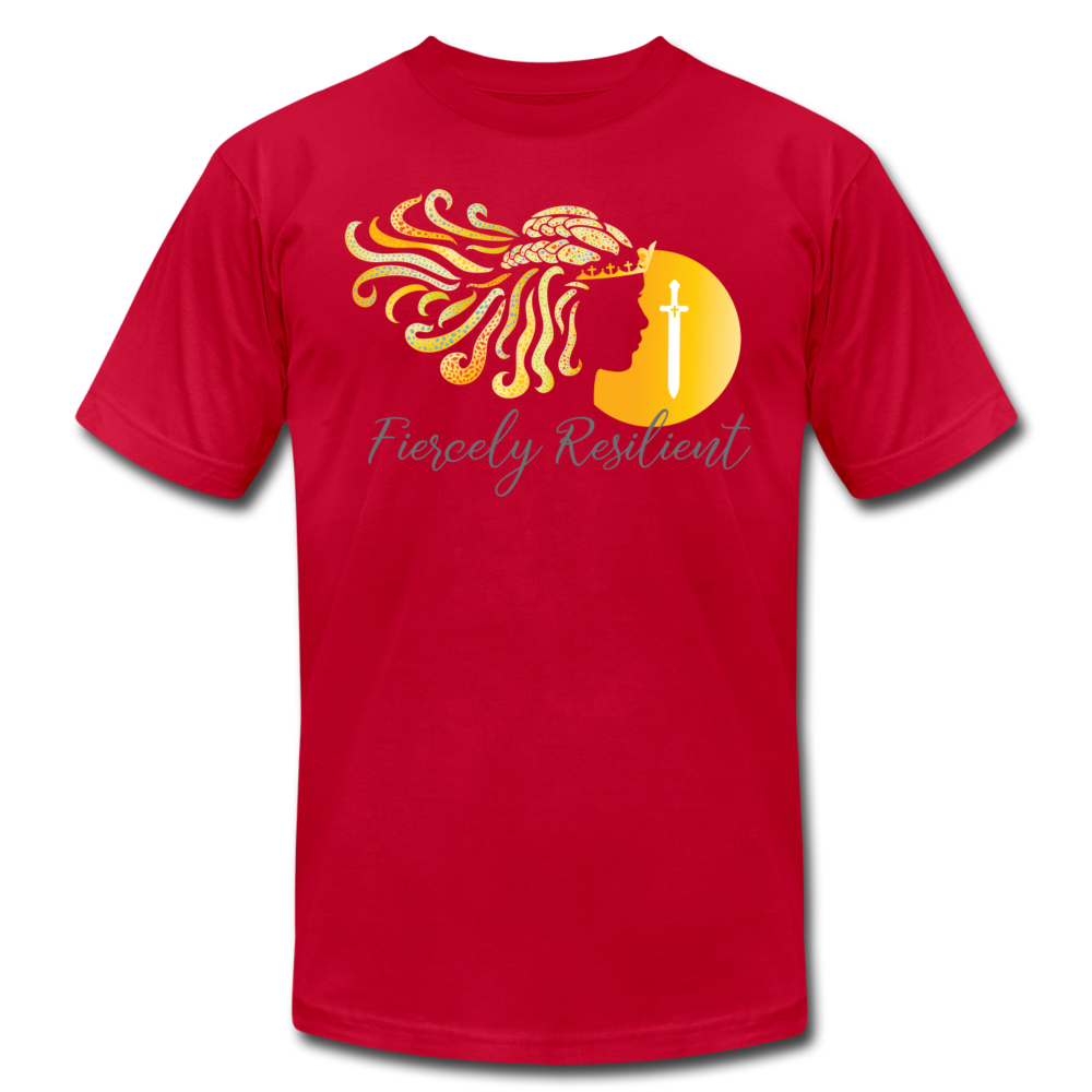 Fiercely Resilient Brand T-Shirt - red