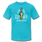 Load image into Gallery viewer, Everyday Talk Brand T-Shirt - turquoise