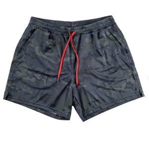 Swim Trunks - Black Multicam Camo