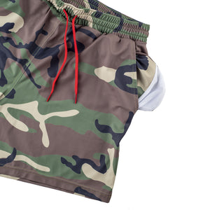 Swim Trunks - Tri-Color Woodland Camo
