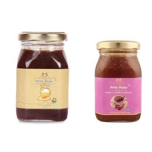 Combo - Small bee honey & Rose petals honey - Mother medicine - Health & happiness - honeybasket
