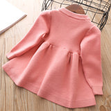 Winter Knit Dress - Pink