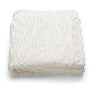 Lila Knit Blanket - White