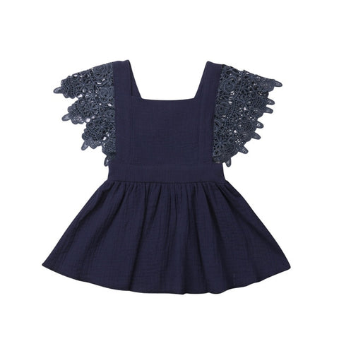 Lexi Lace Dress - Navy