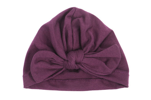 Knot Turban - Plum