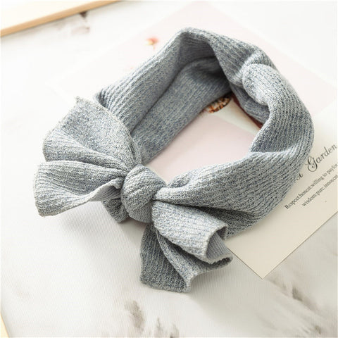 Eleanor Bow Headband - Grey