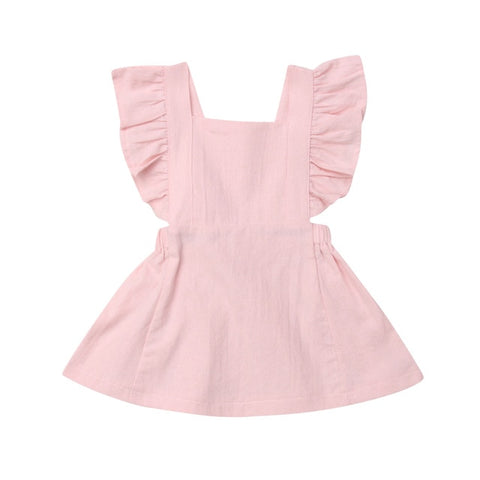 Eden Flutter Dress - Pink