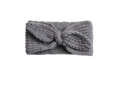 Knit Headband - Grey