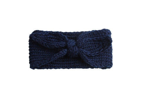 Knit Headband - Navy