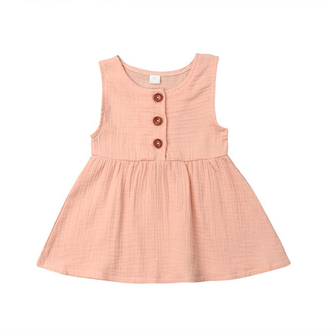 Harlow Button Dress - Blush