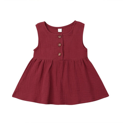 Harlow Button Dress - Wine