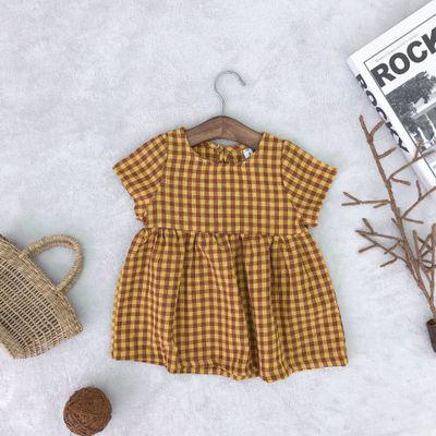 Kenzie Plaid Dress - Mustard