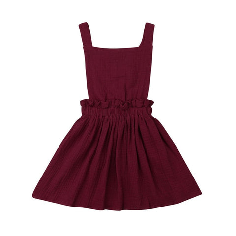 Molly Linen Dress - Wine