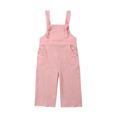 Brooklyn Knot Overalls - Pink
