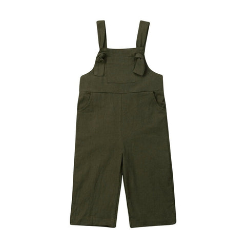 Brooklyn Knot Overalls - Olive