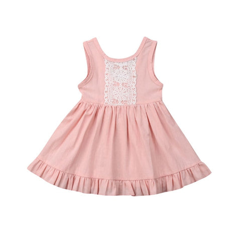 Paisley Lace Dress - Pink