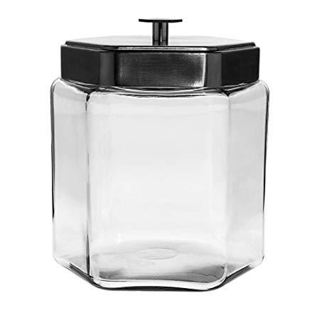 Anchor Hocking Large Glass Honeycomb Jar 1.5 gal With Lid