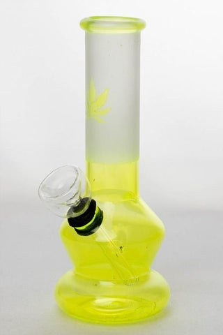 "6"" Two tone color Lime glass water bong"