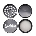 """Cookies"" Zinc Alloy Black Weed/Herb Grinder For Sale 