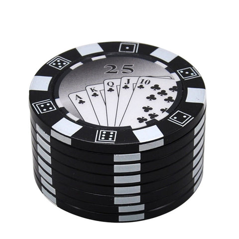 Gambling Chip Herb Grinder 3 Layer | Accessory For Sale |Free Shipping
