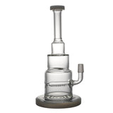 Down Stem In line Diffuser Pyramid Glass Bong/Dab Rig | Free Shipping