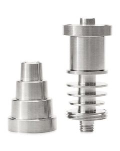 Titanium 16Mm/20Mm E-Nail Compatible 6-In-1 Universal Domeless Nail/banger