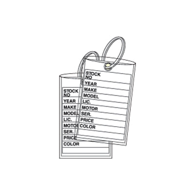 3 Piece Key Tags