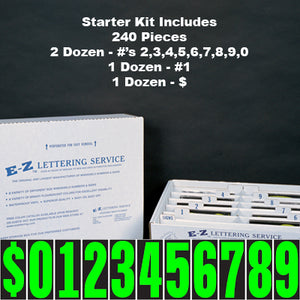 "5.5"" Adhesive Windshield Numbers - Kit"