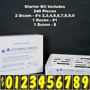 "Yellow 7.5"" Adhesive Windshield Numbers - Kit"