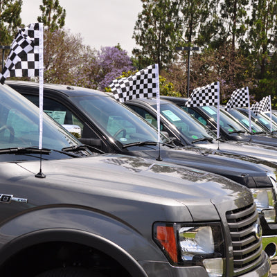 Checkered Flag Antenna Pennants