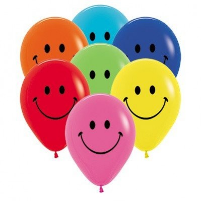 100 Pack Happy Face Balloon