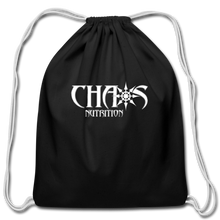 Official Chaos Nutrition Cotton Drawstring Bag - black