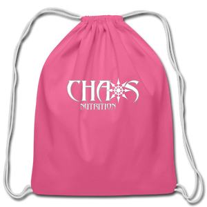 Official Chaos Nutrition Cotton Drawstring Bag - pink