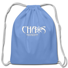 Official Chaos Nutrition Cotton Drawstring Bag - carolina blue